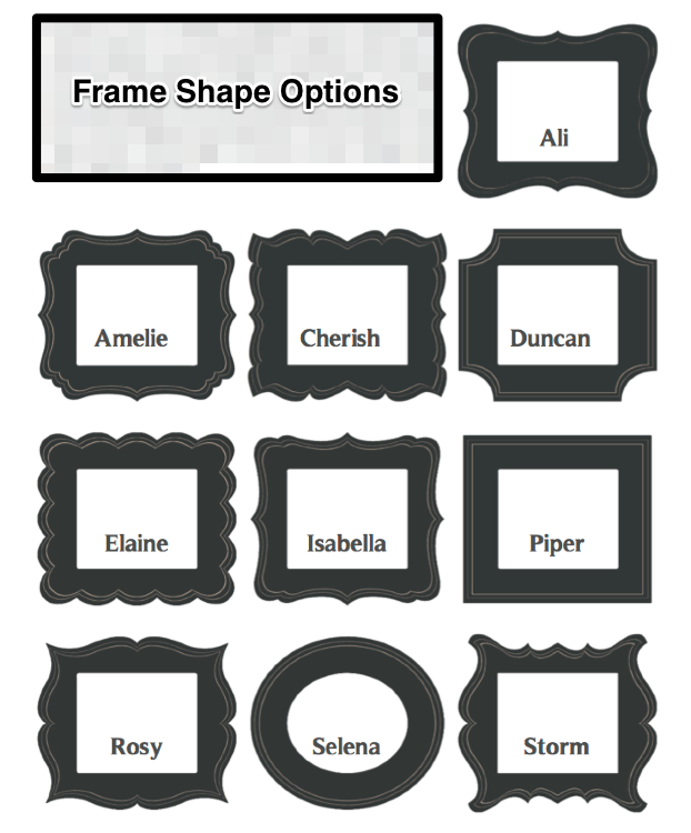 frame shapes