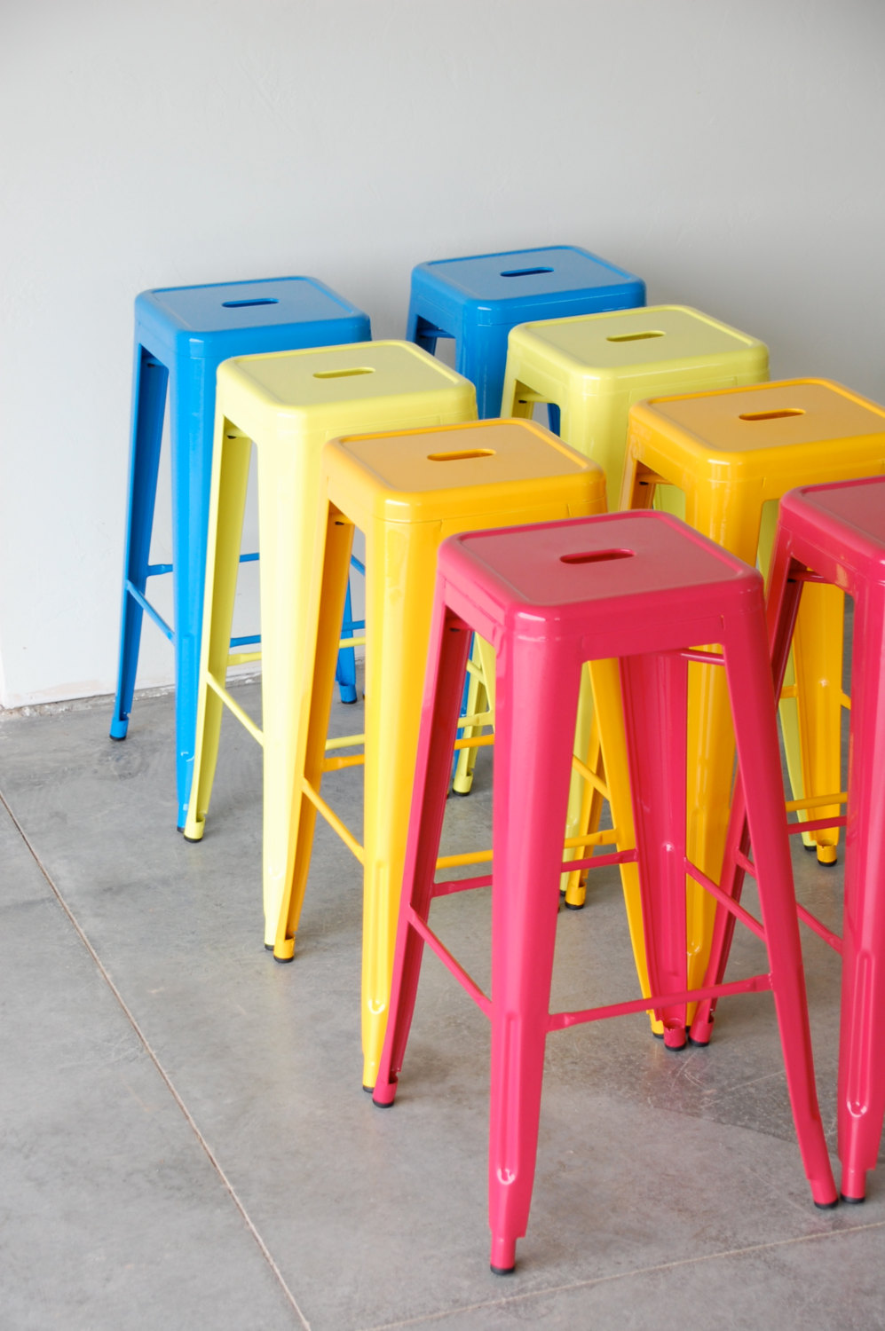 custom painted tolix style stool in the color of your choice 24